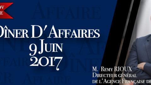 Dîner d'Affaires 9/06/17 – Rémy RIOUX, DG de l'AFD