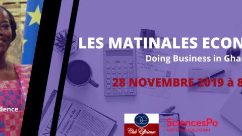 Matinales économiques du Club-Efficience avec Sciences PO Executive Education le 28 novembre 2019